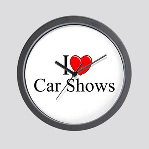 """I Love (Heart) Car Shows"" Wall Clock"