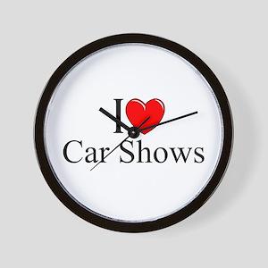 """""""I Love (Heart) Car Shows"""" Wall Clock"""