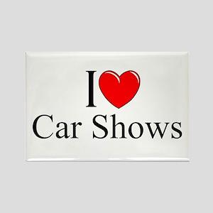 """I Love (Heart) Car Shows"" Rectangle Magnet"