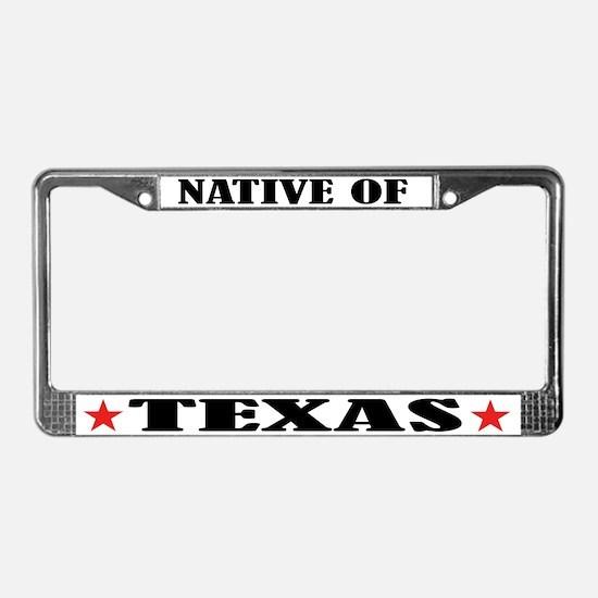 Texas Native License Plate Frame