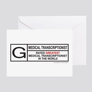 MEDICAL TRANSCRIPTIONIST Greeting Card