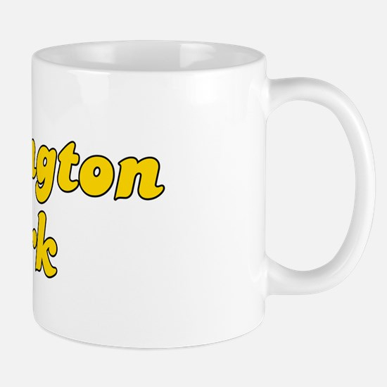 Retro Huntington P.. (Gold) Mug