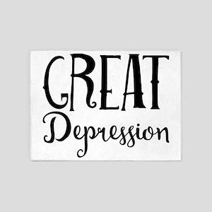 Great Depression 5'x7'Area Rug