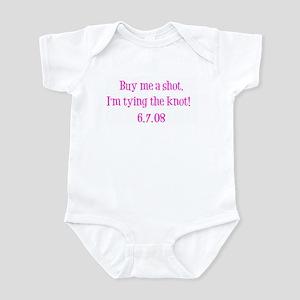 Buy me a shot. I'm tying the Infant Bodysuit