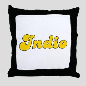 Retro Indio (Gold) Throw Pillow