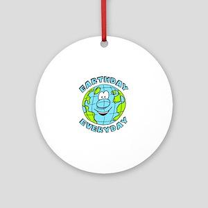 Earthday Everyday Round Ornament