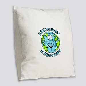 Earthday Everyday Burlap Throw Pillow