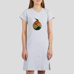 Poppy Hummingbird Gourd T-Shirt