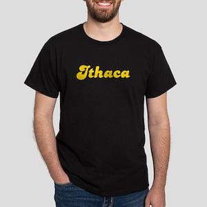 Retro Ithaca (Gold) Dark T-Shirt