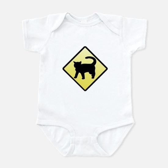 CAUTION! Cat Crossing Infant Bodysuit