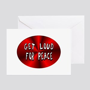 Get Loud For Peace Greeting Card