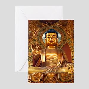 Golden Buddha - Greeting Card