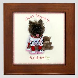 Cairn Terrier Good Morning Framed Tile