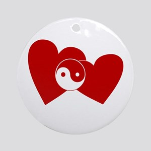 Ying Yang Hearts Ornament (Round)