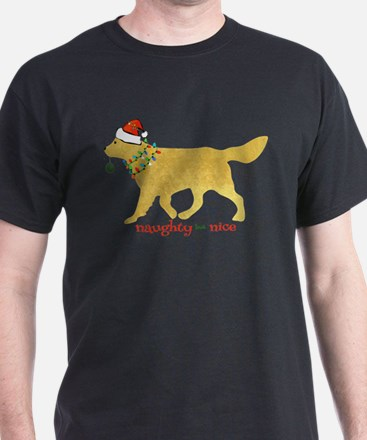Naughty Christmas Golden Retriever T-Shirt