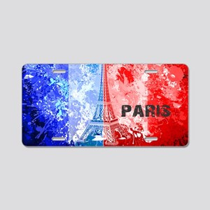 paris flag Aluminum License Plate