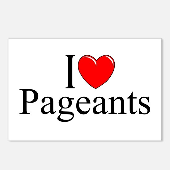 """""""I Love (Heart) Pageants"""" Postcards (Package of 8)"""