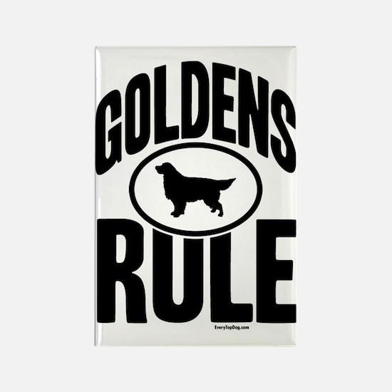 Golden Retrievers Rule Rectangle Magnet