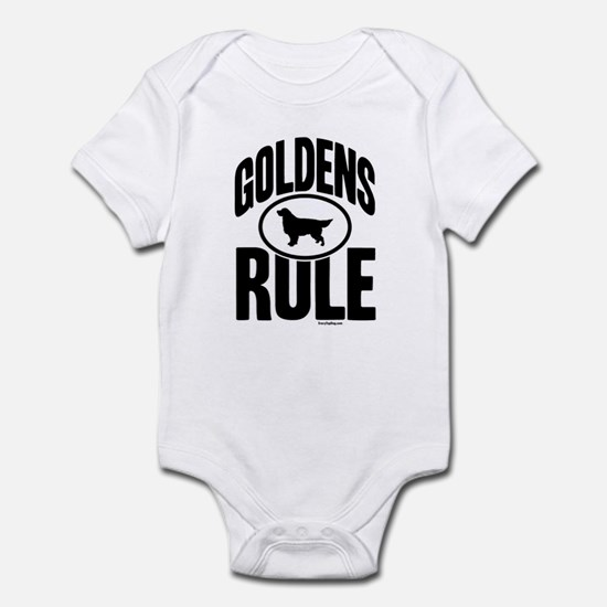 Golden Retrievers Rule Infant Bodysuit