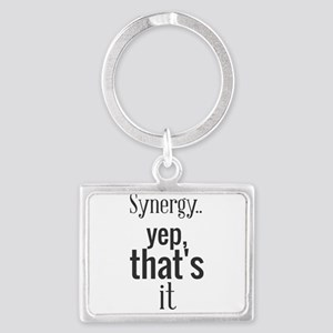Synergy... yep, that's it. Keychains
