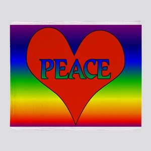 Peace Heart 2 Throw Blanket