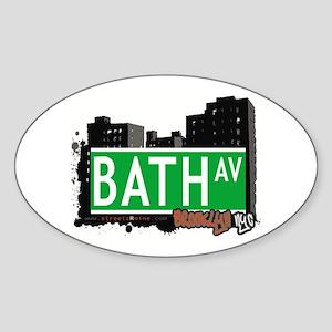 BATH AVENUE, BROOKLYN, NYC Oval Sticker