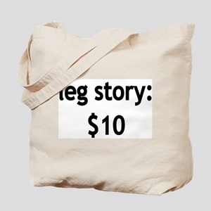 Leg Story Tote Bag
