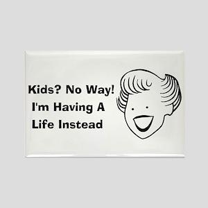 Kids No Way Rectangle Magnet