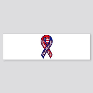 One Nation Under God Ribbon Bumper Sticker
