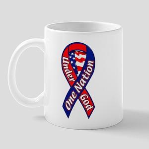 One Nation Under God Ribbon Mug