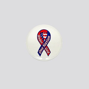 One Nation Under God Ribbon Mini Button