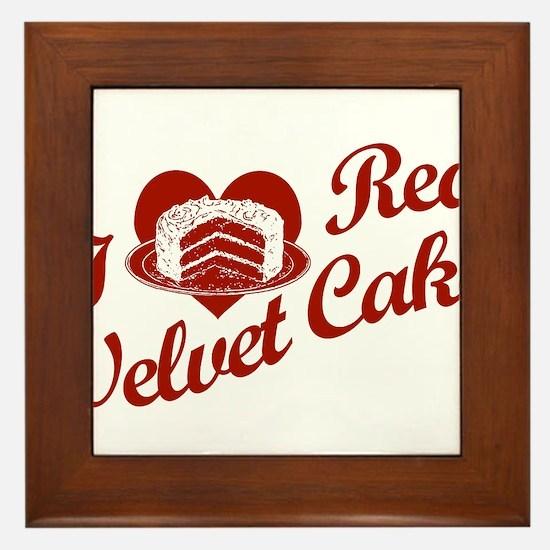 I Love Red Velvet Cake Framed Tile