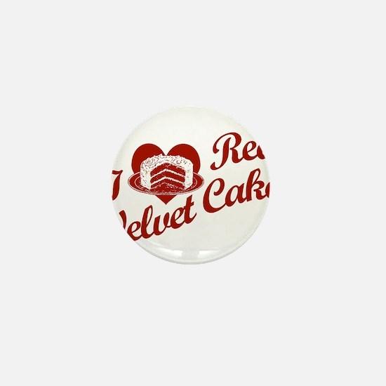 I Love Red Velvet Cake Mini Button