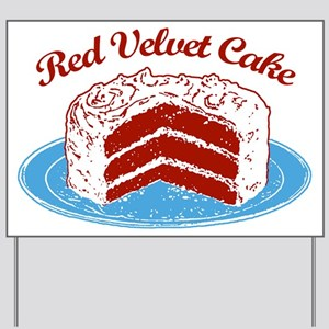 Retro Red Velvet Cake Yard Sign