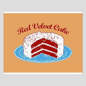 Retro Red Velvet Cake Small Poster