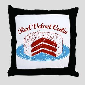 Retro Red Velvet Cake Throw Pillow