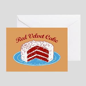 Retro Red Velvet Cake Greeting Card