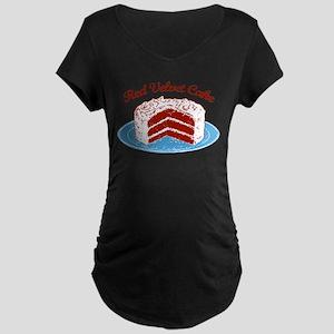 Retro Red Velvet Cake Maternity Dark T-Shirt