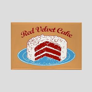 Retro Red Velvet Cake Rectangle Magnet