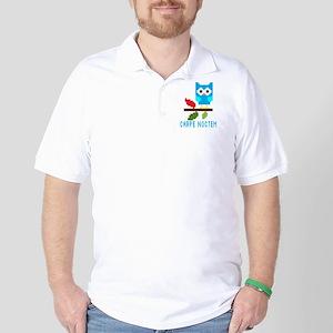 Night Owl   Carpe Noctem   Cute Owl Golf Shirt
