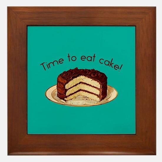Time To Eat Cake Framed Tile