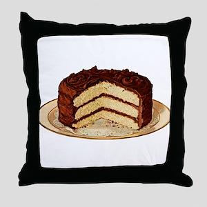 Retro Cake T-shirts Throw Pillow