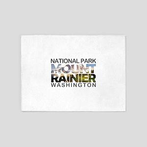 Mount Rainier - Washington 5'x7'Area Rug