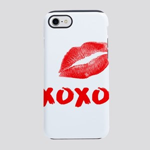 LIPS KISS XOXO RED iPhone 8/7 Tough Case