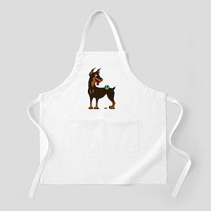 Red Doberman Pinscher BBQ Apron
