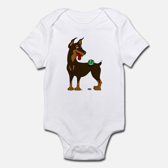 Red Doberman Pinscher Infant Bodysuit