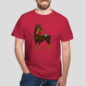 Red Doberman Pinscher Dark T-Shirt