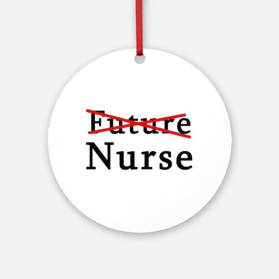 No Longer Future Nurse Ornament (Round)