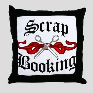 Hip Scrapbooking Throw Pillow