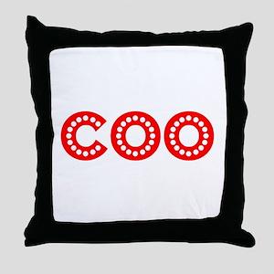 Retro COO (Red) Throw Pillow
